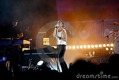 Gianna Nannini s concert Editorial Stock Image