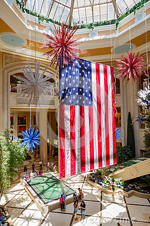 Giant American flag Editorial Stock Image