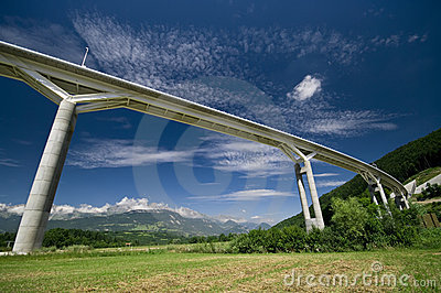 Giant bridge and the alps