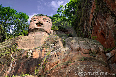 The giant buddah of leshan sichuan province
