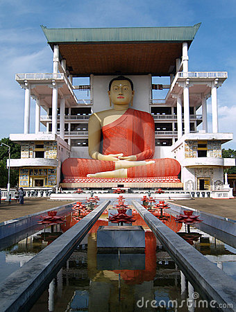 Giant Buddha at Matara Temple