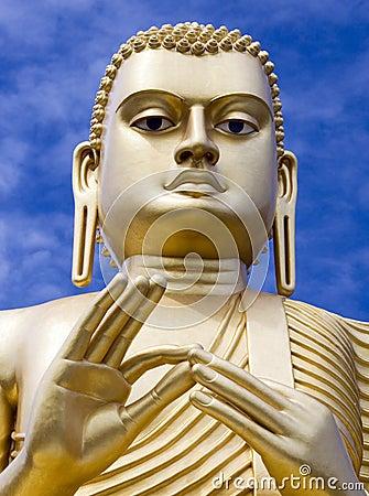 Giant Buddha statue - Dambulla - Sri Lanka