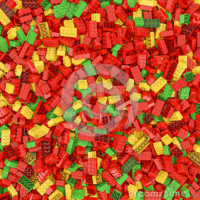 Giant building blocks background