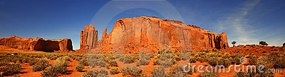 Giant Butte Panorama in Monument Valley, Arizona