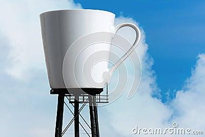 Giant Coffee Mug Reservoir Tower