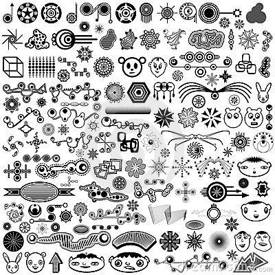 Free Giant Collection Of Unique Vector Design Elements Stock Photos - 22151993