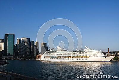 Giant cruise ship in Sydney, Australia.