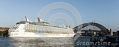 Giant cruise ship in Sydney, Australia.