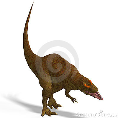 Giant Dinosaur Allosaurus With Clipping Path over