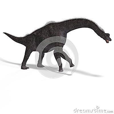 Giant dinosaur brachiosaurus With Clipping Path