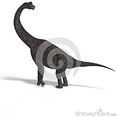 Free Giant Dinosaur Brachiosaurus With Clipping Path Stock Image - 10269561