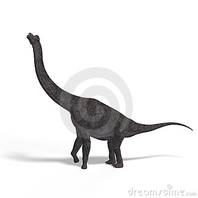 Free Giant Dinosaur Brachiosaurus With Clipping Path Stock Images - 10348014