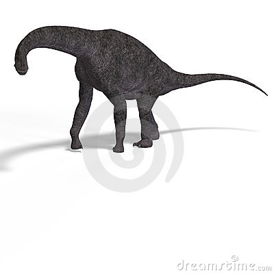 Free Giant Dinosaur Brachiosaurus With Clipping Path Stock Photo - 10434230