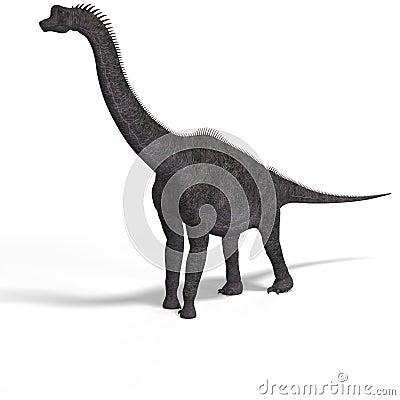 Free Giant Dinosaur Brachiosaurus With Clipping Path Stock Image - 9407711