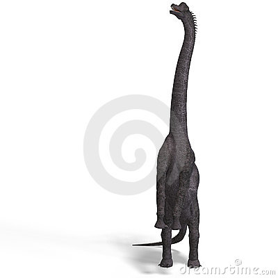 Free Giant Dinosaur Brachiosaurus With Clipping Path Stock Photography - 9532402