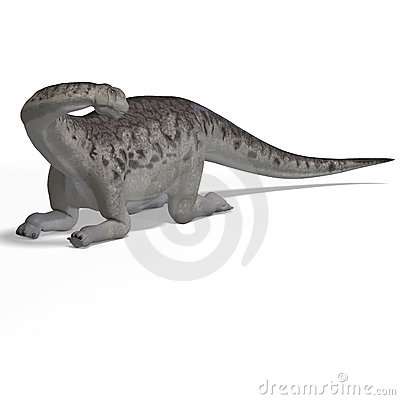 Giant dinosaur camasaurus With Clipping Path over