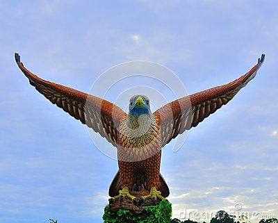 The giant eagle statue in Langkawi Island