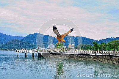 The giant eagle statue in Langkawi Island Editorial Stock Photo