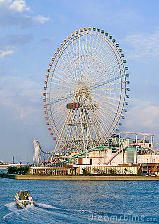 A giant ferris wheel