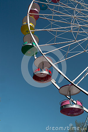 Giant Ferris Wheel Blue Sky Amusement Park PA