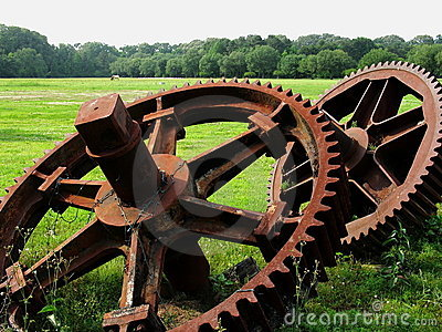 Giant Gears Stock Photography - Image: 5068072