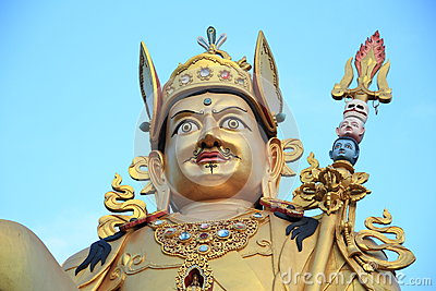 Giant gold sculpture.