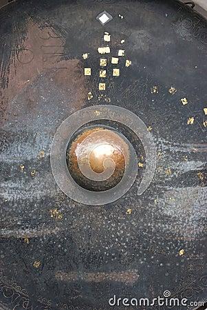 Giant gong at Wat Phrathat Doi Suthep