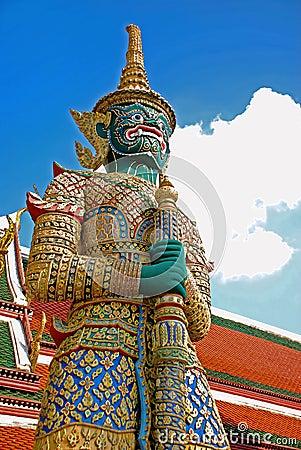 Free Giant Guard - Bangkok Garand Palace Royalty Free Stock Image - 7507306