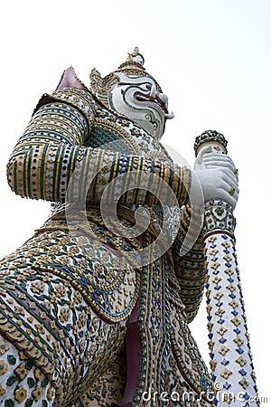 Free Giant Guardian_Wat Arun Stock Photo - 7539420
