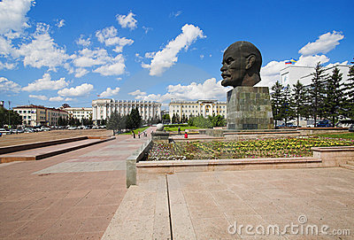 Giant head of Lenin