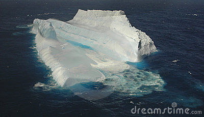 Giant iceberg in the southern ocean