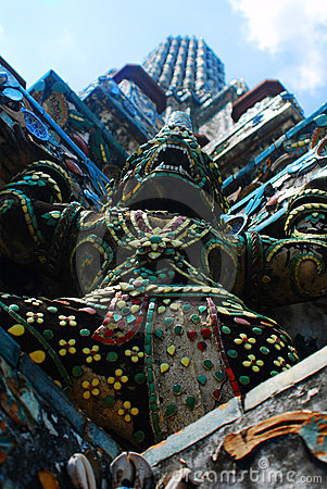 Free Giant In Wat Arun Stock Photography - 13941532