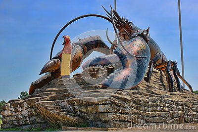 Giant Lobster Statue Landmark