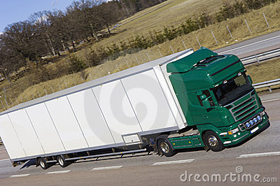 Giant lorry, truck