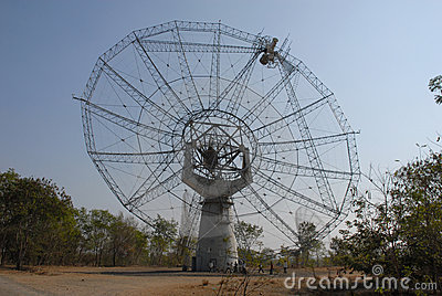Giant Meter-wave Radio Telescope, GMRT, India.