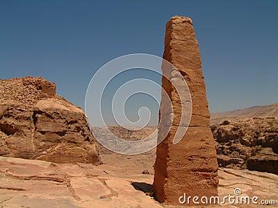 Giant obelisk, High Place of Sacrifice, Petra, Jordan