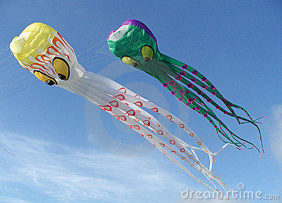 Giant octopus kites