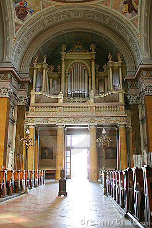 Free Giant Organ In Old Church Royalty Free Stock Image - 16141026