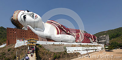 Giant Reclining Buddha Editorial Photography