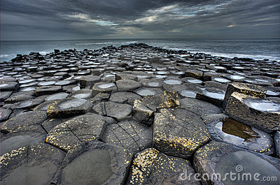 Giant s Causeway Editorial Stock Image