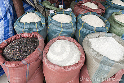 Giant Sacks of Rice