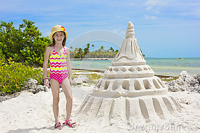 Giant Sandcastle on a tropical beach