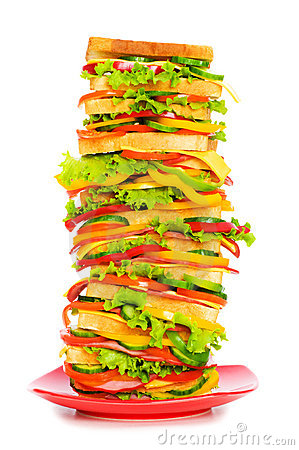 Free Giant Sandwich Isolated Stock Photos - 10815633