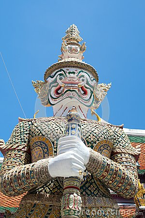 Giant Stand in front of Temple