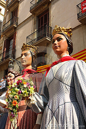 Giant in traditional festivals Barcelona. Editorial Photography