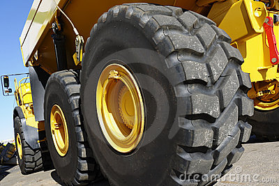 Giant truck and tires