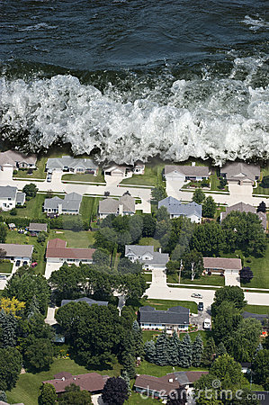 Free Giant Tsunami Tidal Wave Natural Disaster Stock Photography - 18867272