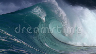 Giant waves. In the ocean stock video footage