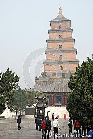 Giant Wild Goose Pagoda Editorial Stock Image