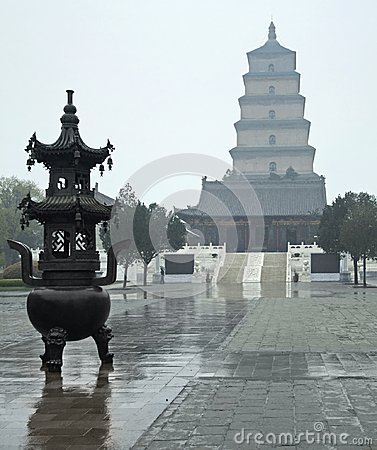 Free Giant Wild Goose Pagoda Royalty Free Stock Photography - 33136907